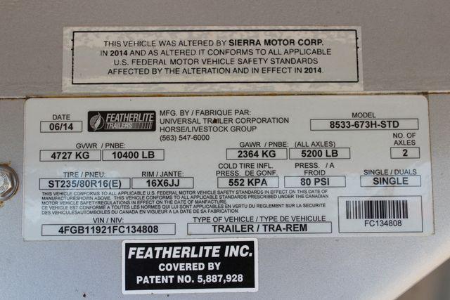 2015 Featherlite 8533 LQ 3H 8' SW Living Quarters CONROE, TX 53