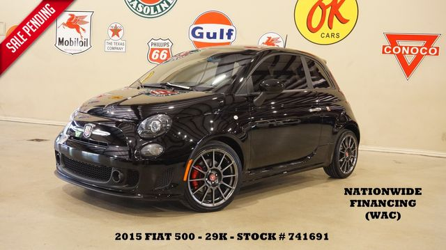 2015 Fiat 500 Abarth AUTOMATIC,LEATHER,17IN WHLS,29K,WE FINANCE in Carrollton, TX 75006