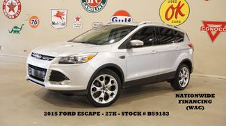 2015 Ford Escape Titanium 4WD PANO ROOF,NAV,HTD LTH,27K,WE FINANCE in Carrollton, TX 75006