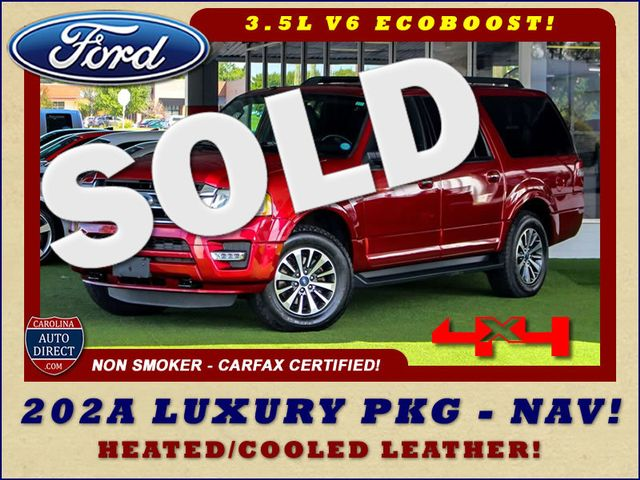 2015 Ford Expedition EL XLT 4x4 - 202A LUXURY PKG - NAV - PWR FOLD 3RD ROW Mooresville , NC