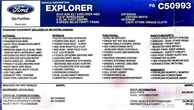 2015 Ford Explorer XLT | Concord, CA | Carbuffs in Concord, CA