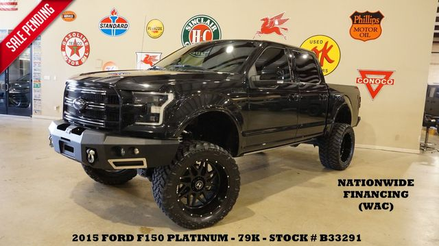 2015 Ford F-150 Platinum 4X4 LIFTED,BUMPERS,ROOF,360 CAM,22'S,79K