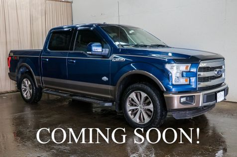 2015 Ford F-150 King Ranch w/Nav, Backup Cam, Heated  and Cooled Seats, Remote Start & 20