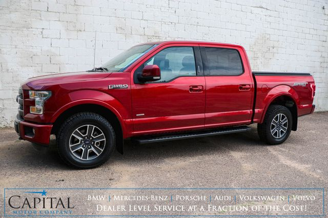2015 Ford F-150 Lariat Crew Cab 4x4 w/Sport Package, Nav, Panoramic Roof, Heated/Cooled Seats & Tow Pkg in Eau Claire, Wisconsin 54703