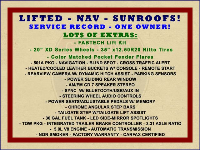 2015 Ford F-150 Lariat SuperCrew 4x4 - LIFTED - NAV - SUNROOFS! Mooresville , NC 1
