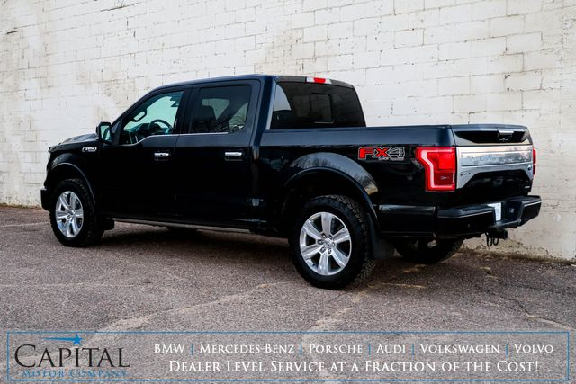 2015 Ford F-150 Platinum Crew Cab 4x4 with FX-4 Package, Nav, Backup Cam, Panoramic Roof & Heated Seats in Eau Claire, Wisconsin 54703