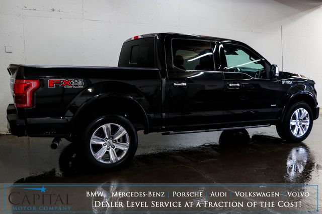 2015 Ford F-150 Platinum Ecoboost 4x4 w/Nav, Backup Cam, Panoramic Roof & Heated Steering Wheel in Eau Claire, Wisconsin 54703