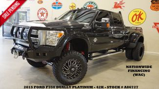 2015 Ford F-350 DRW Platinum 4X4 LIFTED,LED'S,ROOF,NAV,FUEL WHLS,42K in Carrollton TX, 75006