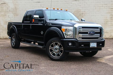 2015 Ford F-350 Super Duty Platinum Crew Cab Diesel 4x4 with Navigation, Backup Camera and Heated/Cooled Seats in Eau Claire
