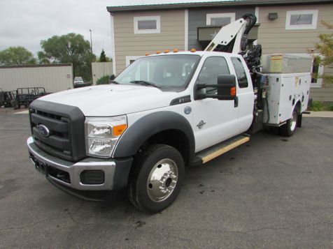 2015 Ford F-550 4x4 Utility with a IMT 5/33 Knuckle boom  in St Cloud, MN