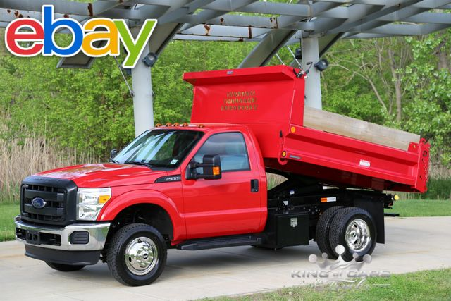 2015 Ford F350 Reg. Cab READING MASON DUMP 6.2L V8 5K MILES 4X4 MINT