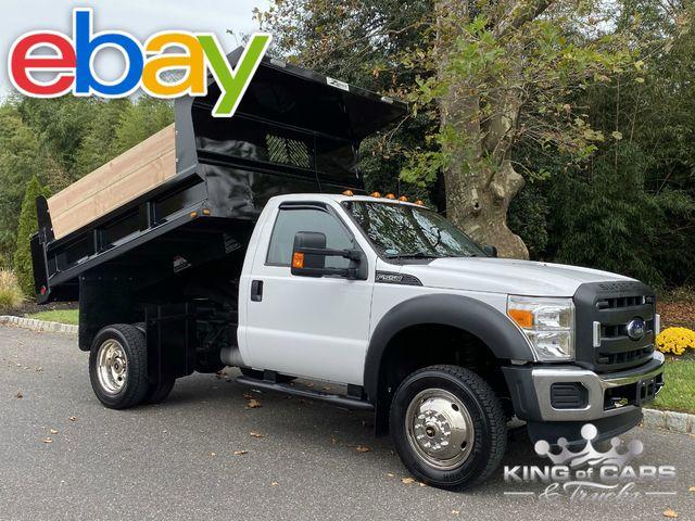 2015 Ford F550 4x4 V10 Reg CAB MASON DUMP 1-OWNER ONLY 23K MILES WOW