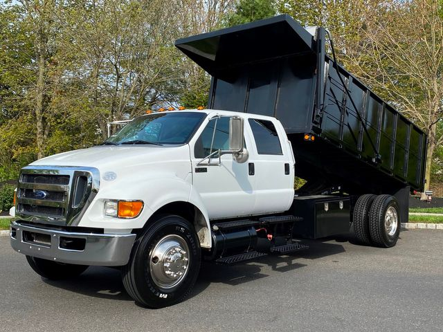 2015 Ford F750 Cummins Diesel CREW LANDSCAPE DUMP LOW MILES LIKE NEW 1-OWNER