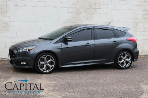 2015 Ford Focus ST Turbo Hatchback w/6-Speed Manual, Power Moonroof, Bluetooth Audio & 18-Inch Rims in Eau Claire