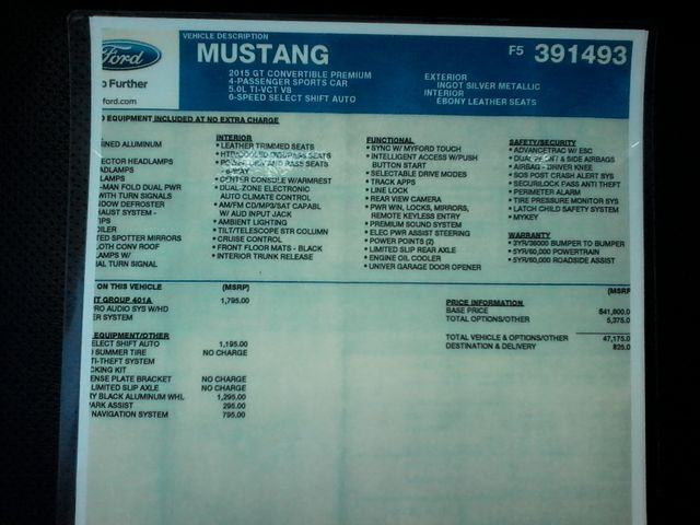 2015 Ford Mustang GT Premium 5.0 Boerne, Texas 30