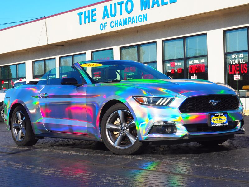 2015 Ford Mustang V6 Convertible | Champaign, Illinois | The Auto Mall of Champaign in Champaign Illinois