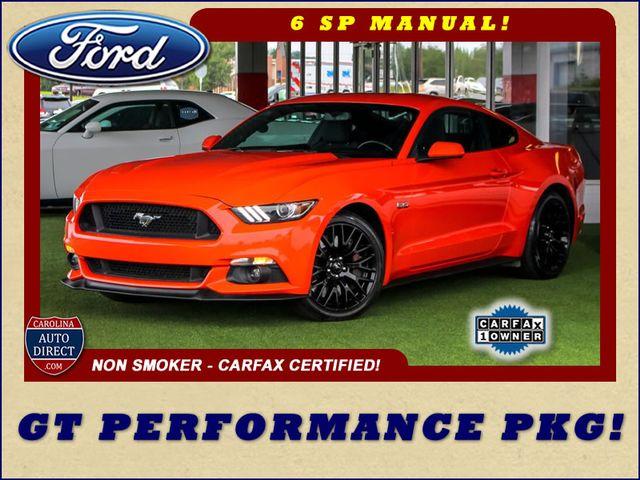 2015 Ford Mustang GT PERFORMANCE PKG - PARK SENSORS - 6SP MANUAL! Mooresville , NC 0