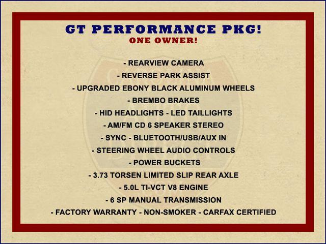 2015 Ford Mustang GT PERFORMANCE PKG - PARK SENSORS - 6SP MANUAL! Mooresville , NC 1