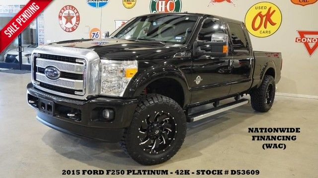 2015 Ford Super Duty F-250 Platinum 4X4 ROOF,NAV,FUEL WHLS,42K!