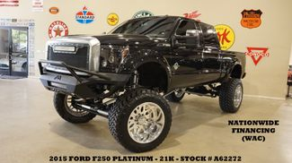 2015 Ford F-250 Platinum 4X4 LIFTED,BUMPERS,LED'S,A/F 24'S,21K in Carrollton, TX 75006