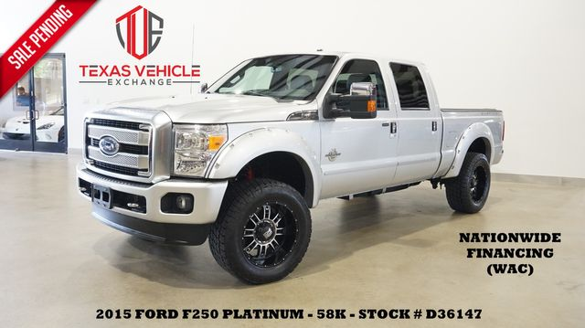 2015 Ford F-250 Platinum 4X4 LIFTED,ROOF,NAV,BACK-UP,XD WHLS,58K in Carrollton, TX 75006