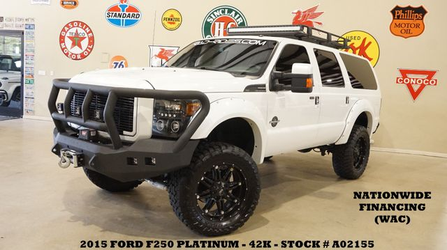 2015 Ford F-250 Platinum Excursion 4X4 LIFT,BUMPERS,LED'S,22'S,42K