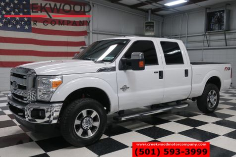 2015 Ford Super Duty F-250 XLT 4x4 Diesel White Chrome 18s 1 Owner Cloth NICE in Searcy, AR