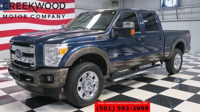 2015 Ford Super Duty F-350 SRW King Ranch 4x4 Diesel Blue 1 Owner Low Miles