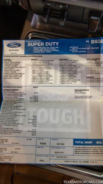 2015 Ford Super Duty F-350 SRW Pickup Platinum 4x4 in Addison, Texas 75001