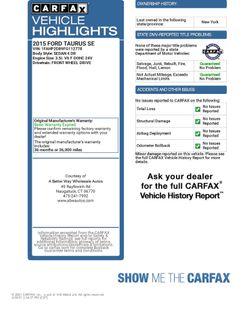 2015 Ford Taurus SE Naugatuck, Connecticut 1
