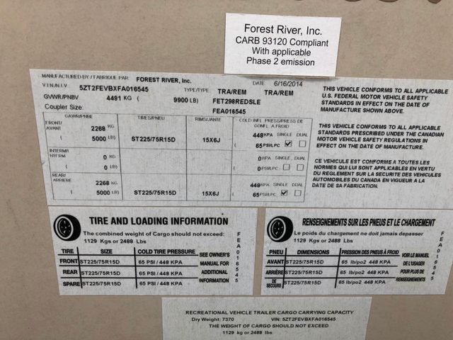 2015 Forest River FET298REDSLE Coachman Spartanburg, South Carolina 1