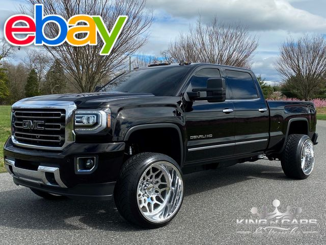 "2015 Gmc 2500 Sierra Denali CREW 6.6L DIESEL LEVELED 76K MILES 4X4 24"" FORCES in Woodbury, New Jersey 08093"