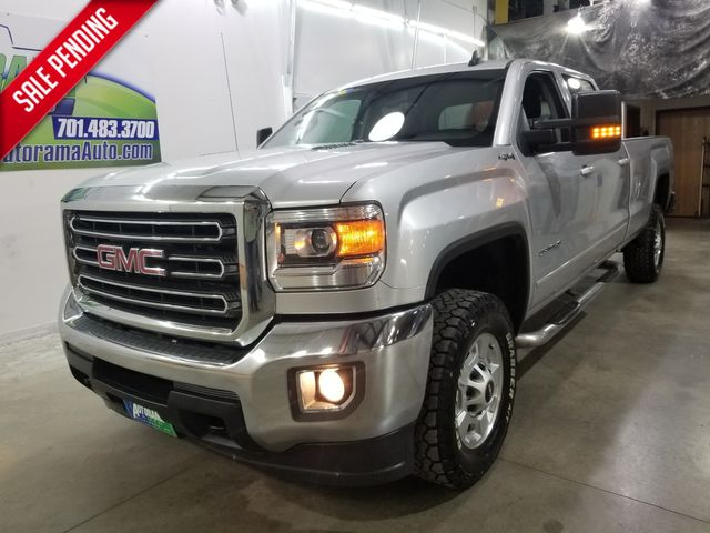 2015 GMC Sierra 2500HD Crew 8ft SLE Leather Duramax in Dickinson, ND 58601