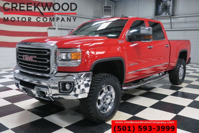 2015 GMC Sierra 2500HD SLT 4x4 Diesel Red 35s Chrome 18s Leveled Nav NICE