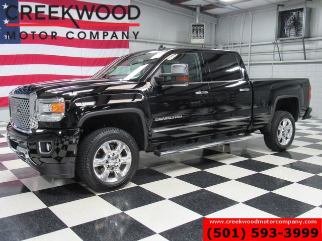 2015 GMC Sierra 2500HD Denali 4x4 Diesel Black Nav Chrome 20s New Tires