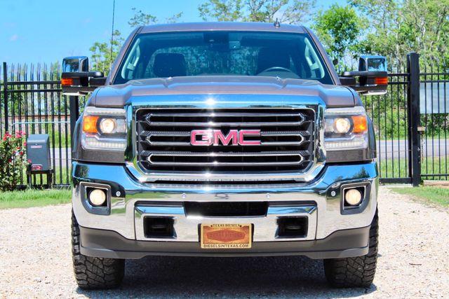 2015 GMC Sierra 2500HD SLT Crew Cab 4x4 6.6L Duramax Diesel Allison Auto Sealy, Texas 3
