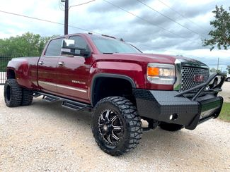 2015 GMC Sierra 3500HD DRW Denali Crew Cab 4X4 6.6L Duramax Diesel Auto LIFTED in Sealy, Texas 77474
