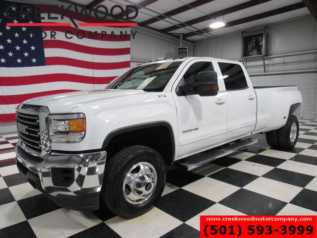 2015 GMC Sierra 3500HD SLE 4x4 Diesel Allison Dually Chrome White CLEAN in Searcy, AR 72143