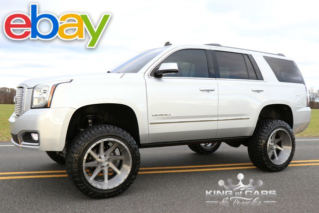 2015 Gmc Yukon Denali Lifted LOW MILES 1-OWNER 4X4 SUV PRISTINE