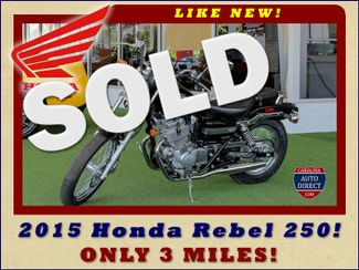 2015 Honda Rebel 250 (CMX250C) - ONLY 3 MILES - LIKE NEW! Mooresville , NC