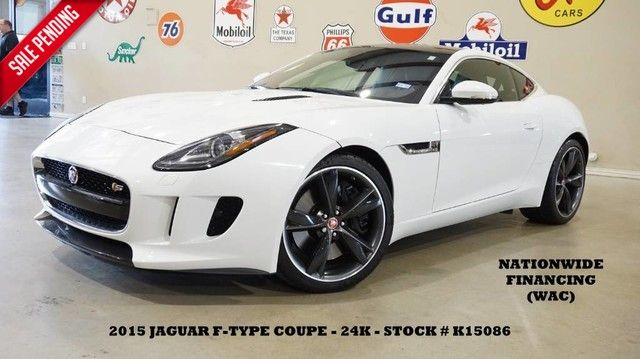 2015 Jaguar F-TYPE S COUPE PANO ROOF,NAV,BACK-UP,HTD LTH,MERIDIAN,...
