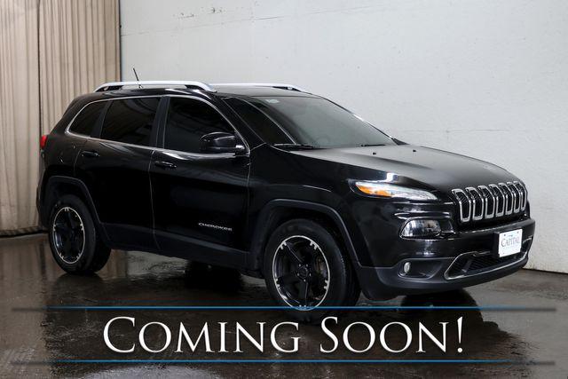 2015 Jeep Cherokee Limited 4x4 w/Navigation, Backup Cam, Panoramic Roof, Heated Seats & Steering Wheel