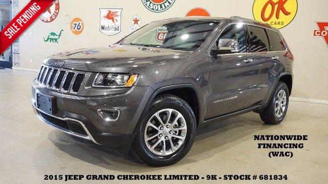 2015 Jeep Grand Cherokee Limited V6,NAV,BACK-UP CAM,HTD LTH,9K,WE FINANCE