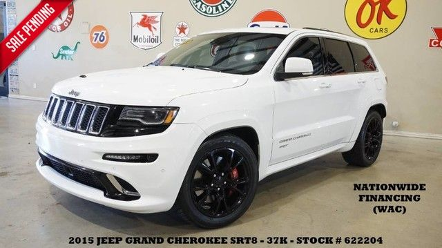 2015 Jeep Grand Cherokee SRT PANO ROOF,NAV,BACK-UP CAM,H/K SYS,BLK 20'S,...
