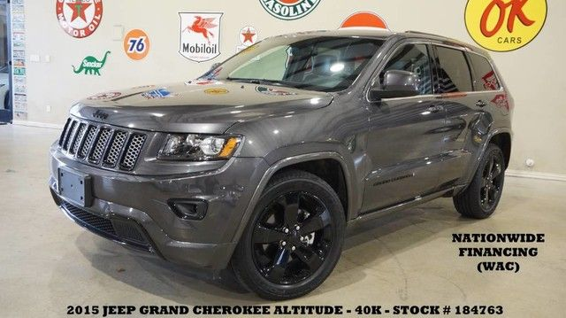 2015 Jeep Grand Cherokee Altitude 4X2 ROOF,BACK-UP CAM,HTD LTH,BLK 20'S,...