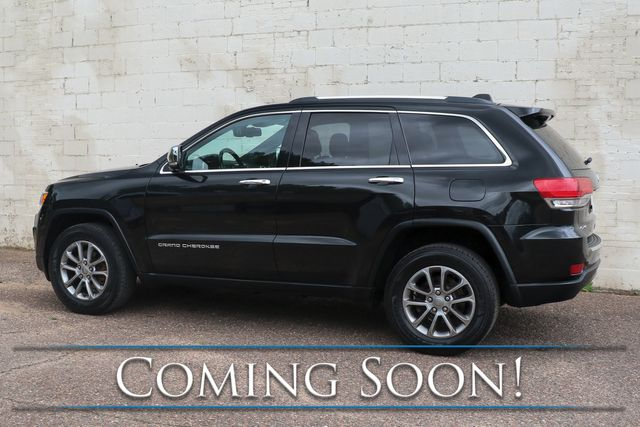 2015 Jeep Grand Cherokee Limited 4x4 w/Touchscreen Nav, Backup Cam, Moonroof, Heated Seats & B.T. Audio in Eau Claire, Wisconsin 54703