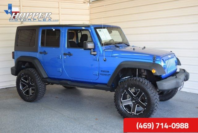 2015 Jeep Wrangler Unlimited Sport LIFTED HLL