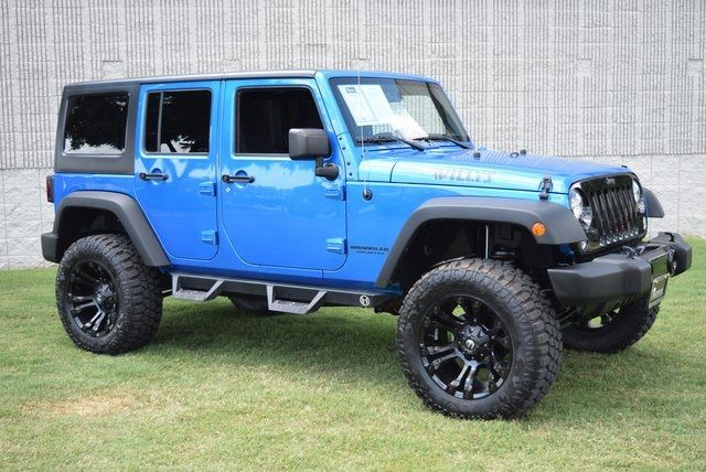 2015 Jeep Wrangler Unlimited Sport LIFTED W/ CUSTOM TIRES AND WHEELS