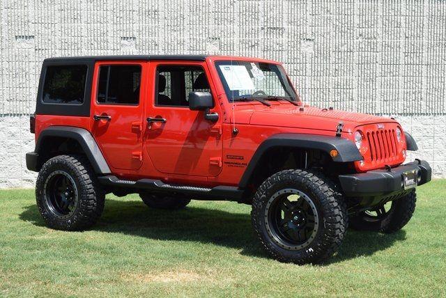 2015 Jeep Wrangler Unlimited Sport LIFTED W/CUSTOM WHEELS & TIRES