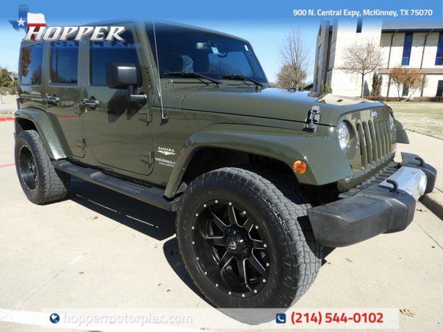 2015 Jeep Wrangler Unlimited Sahara CUSTOM WHEELS AND TIRES